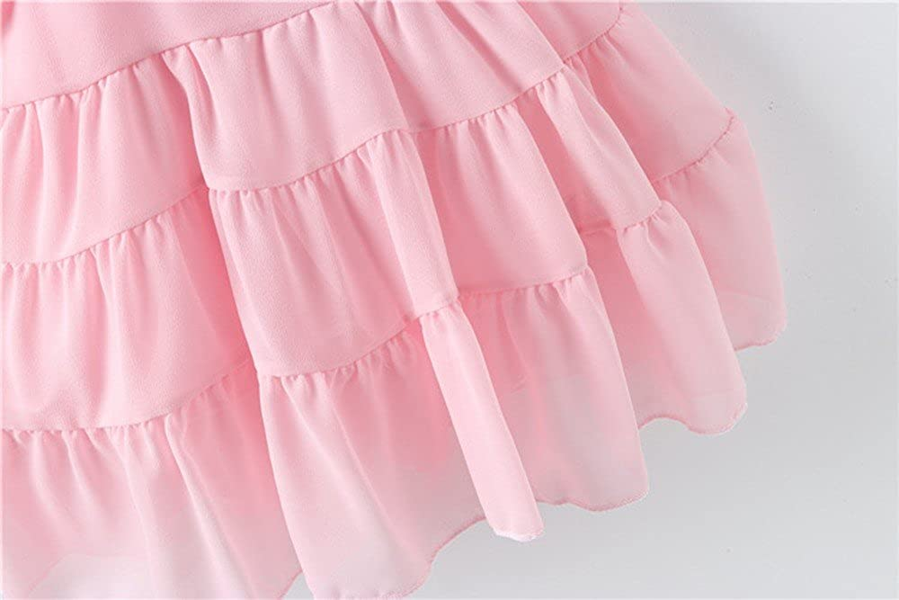 Wesracia Summer Toddler Baby Girls Thin Skirts Cute Strawberry Cartoon Appliques Casual Little Girl Princess/ Dress