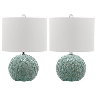 Safavieh Lighting Collection Robinson Light Blue 20-inch Table Lamp (Set of 2)