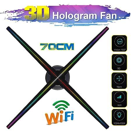 WXJHA 3D WiFi Holograma Publicidad Pantalla LED de Ventilador del ...