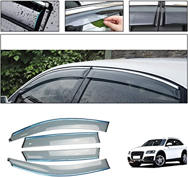 For Audi A6 2012 2013 2014 2015 2016 Window Visor Vent Shades Sun Rain Deflector Guard Auto Accessories 4PCS//SET