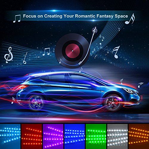 car led strip lights wsiiroon 4pcs 48 led bluetooth app import it all. Black Bedroom Furniture Sets. Home Design Ideas