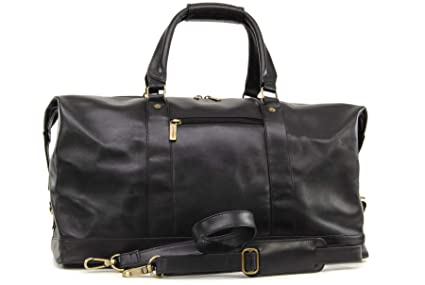 Ashwood Travel Weekend Bag - Holdall - Black Leather  Amazon.co.uk ... 0fd66ee237079