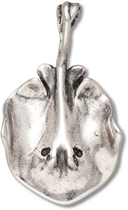 Sterling Silver 3-D Sting Ray Charm