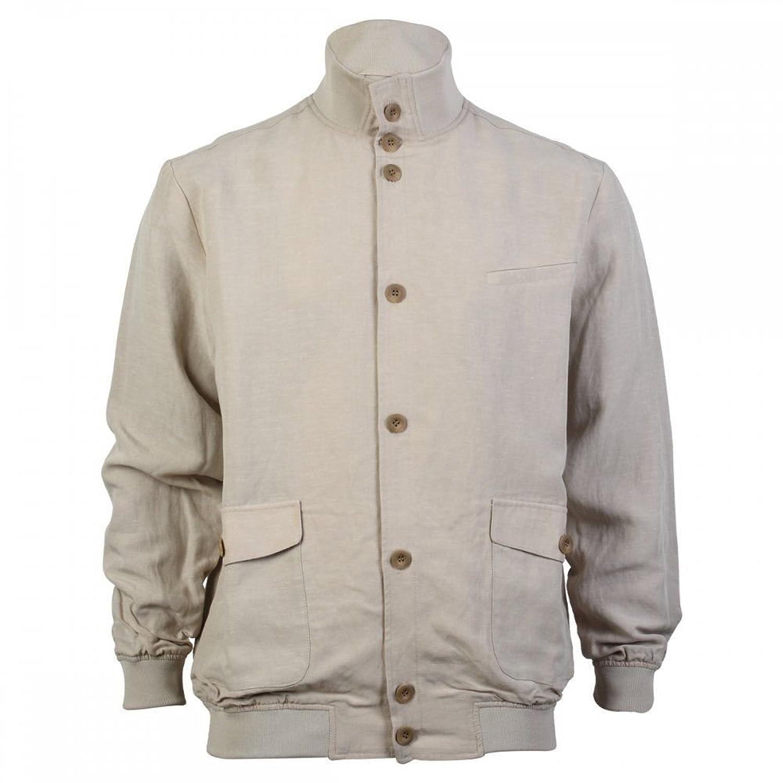 Madox Street Blouson Jacket, Beige, Linen Blend