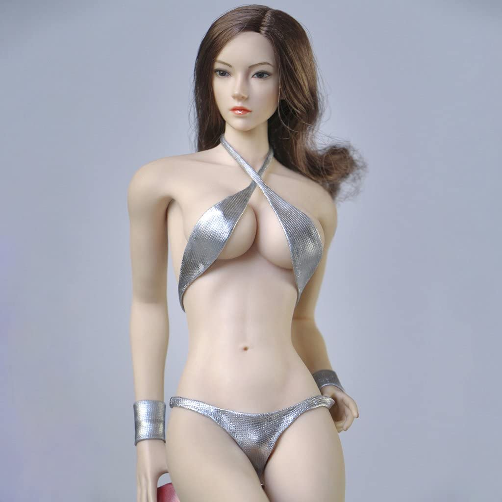 """1//6 SCALE ACCESSORIES FISHNET DRESS FIT 12/"""" PHICE FEMALE SEAMLESS BODY FIGURE"""