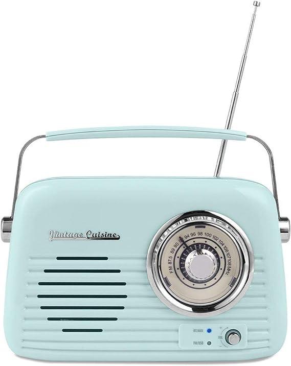 Chrome Retro Radio with Bluetooth Speaker by Vintage Cuisine ...