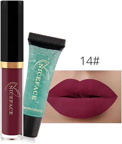 24 Colores Profesional Pintalabios Mate Labial de Maquillaje Larga ...