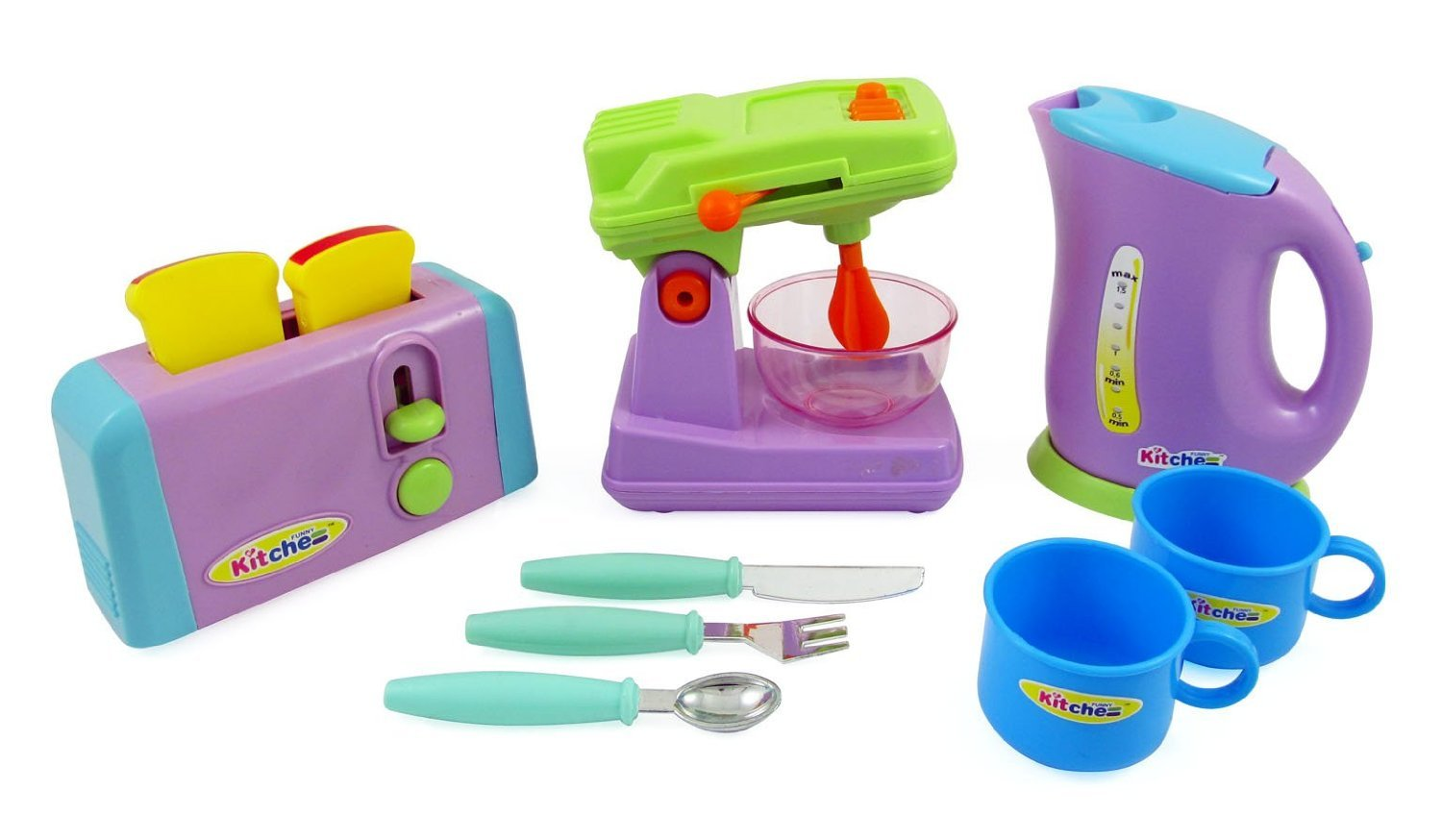 Kitchen Appliances Toy for kids - Mixer, Toaster, Kettle, Cups ...