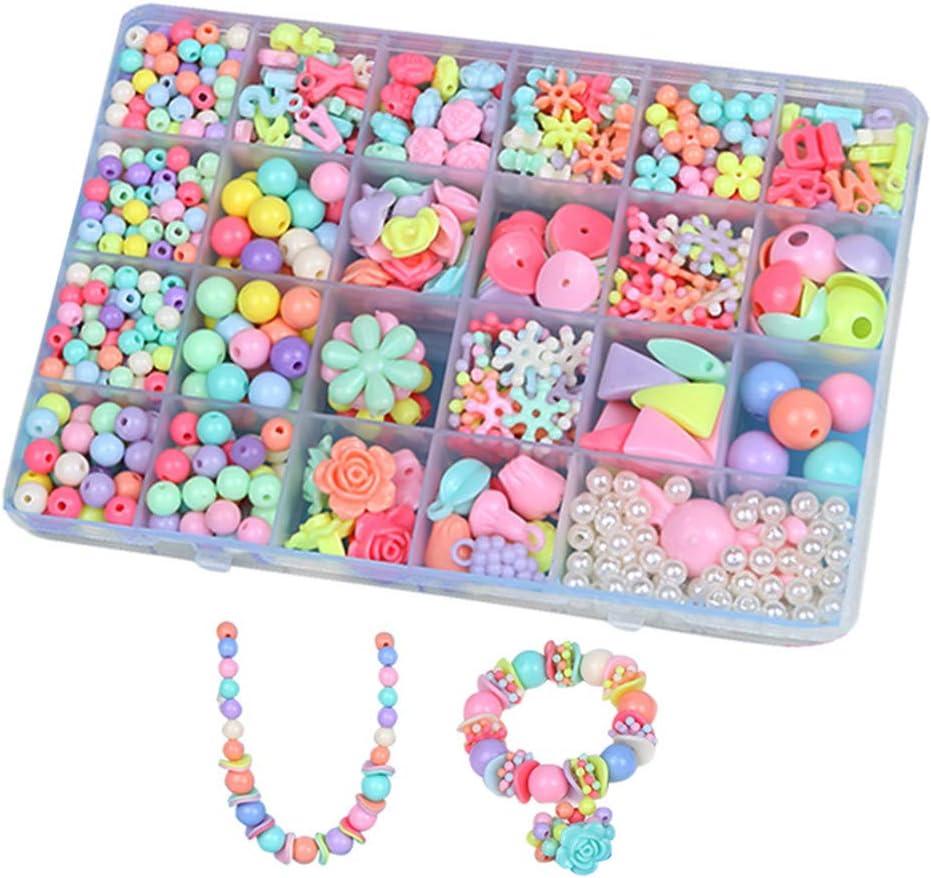 BJ-SHOP Cuentas Abalorios,DIY Beads Granos Coloridos de la Pulsera de plastico Cultivar Color Sensible para la fabricacion de Collar de la joyeria y para el Regalo de Las Ninas de los ninosos