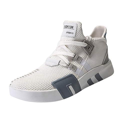 ESAILQ -Zapatillas Running para Hombre Aire Libre y Deporte Transpirables Casual Zapatos Gimnasio Correr Sneakers