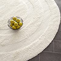 Safavieh Shadow Box Shag Collection SG454-1111 Cream Round Area Rug (5' Diameter)