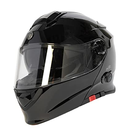 TORC Unisex-Adult Full-face Style T28B Bluetooth Integrated Motorcycle Helmet with Graphic (