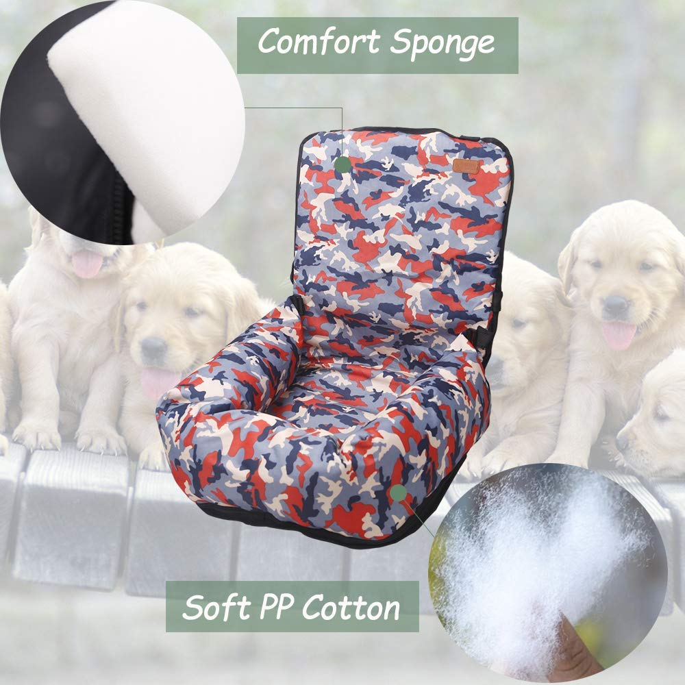 Lavabile Dog Car Seat BO/&CHAO Dog Car Seat Travel Carrier Pet Travel Safety Car Seat Pet Booster Seat Dog Bed per Auto con Tasca portaoggetti