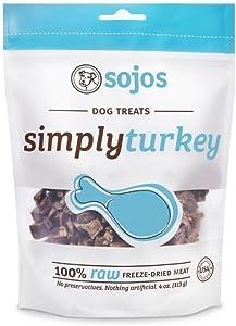 Sojos Simply Turkey Dog Treats, 4 Oz - 2 Pack