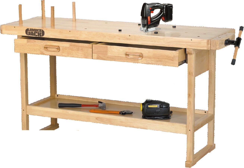 Lumberjack WB1620 Wood Working Bench 1620mm Long Work Top Area
