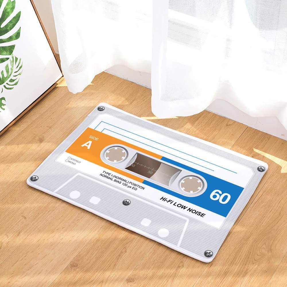Hunpta 1pi/èce 40/x 60/cm vintage cassette Tape Paillasson dint/érieur antid/érapant Tapis de porte D/écor C Paillasson de No/ël