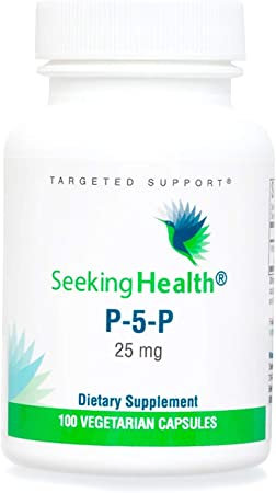 Seeking Health P-5-P, Vitamin B, Pyridoxal-5-Phosphate, Coenzyme B6 Supplement, Support Healthy Cognitive Function, Immune System and Metabolism Support, Vegan Formula, 100 Vegetarian Capsules*