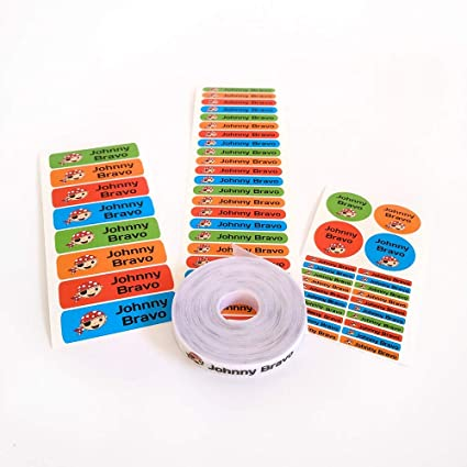 Pack 155 Etiquetas Personalizadas Para Marcar Ropa Y Objetos 100 Etiquetas De Tela Termoadhesiva 55 Etiquetas Adhesivas De Vinilo Color 1 Amazon Es Hogar Y Cocina