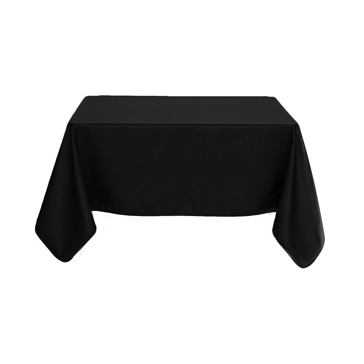 Deconovo Solid Water Resistant Table Cloth High Density Oxford Tablecloth Square Tablecloths Dining Room 60x60 Inch Black