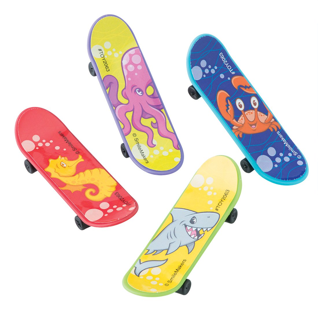 SmileMakers Sea Life Pals Mini Skateboards - Prizes 48 per Pack by SmileMakers