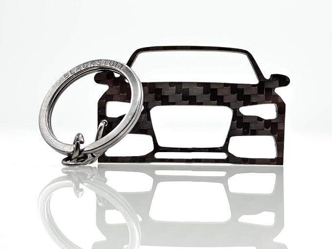 Blackstuff Carbon Karbonfaser Schlüsselanhänger Kompatibel Mit A5 S5 Rs5 2011 2016 8t Bs 140 Bekleidung