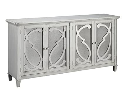Gentil Ashley Furniture Signature Design   Mirimyn 4 Door Accent Cabinet    Distressed Gray Finish