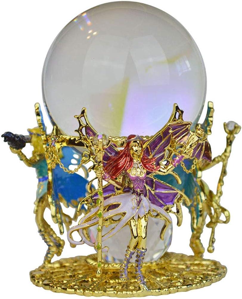 Kirks Folly Warrior Fairy Princess Gazing Globe goldtone