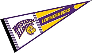 College Flags & Banners Co. Western Illinois University Pennant Full Size Felt