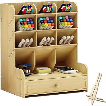 Desk Organizer Home Office School Pen Holder Box Stationary Storage Rack