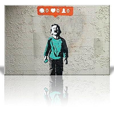 Print Nobody Likes me Kid Screams no Instagram Credit Street Art Guerilla Banksy Street Artwork