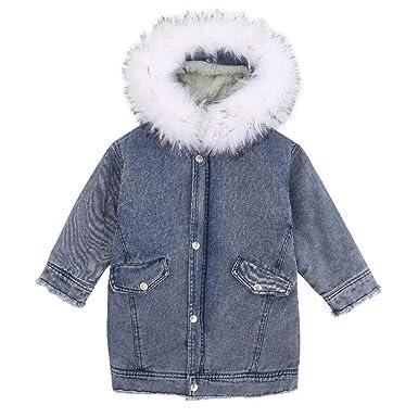 ARAUS Abrigos Chaqueta Jeans de Invierno con Capucha Ropa de Niñas: Amazon.es: Ropa y accesorios