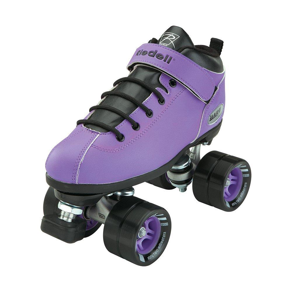 Riedell Skates - Dart - Quad Roller Speed Skates | Purple | Size 7