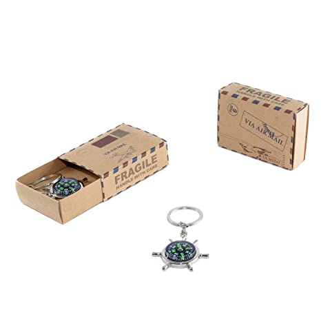 Llavero brujula en caja postal. Pack de 6 unidades: Amazon ...