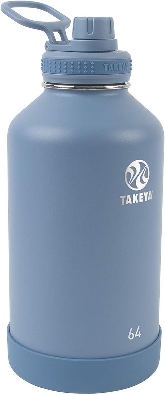Takeya Actives Insulated Water Bottle w/Spout Lid, Bluestone, 64 Ounce