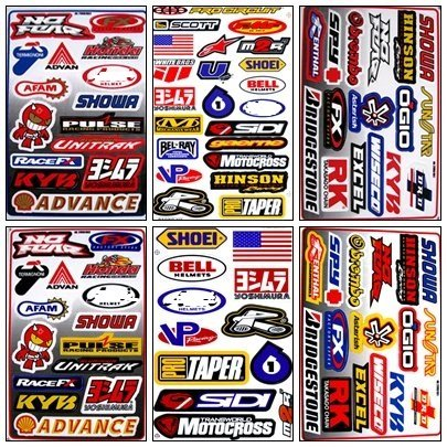 Graphic Racing Sticker Decal Motocross ATV Dirt 6 Sheets - Kawasaki Decals Racing