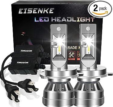 EISENKE 9005 9006 HB3 HB4 Led Headlight Bulbs For auto Cars Conversion Kit 80W 8000lm 6000K Xenon white