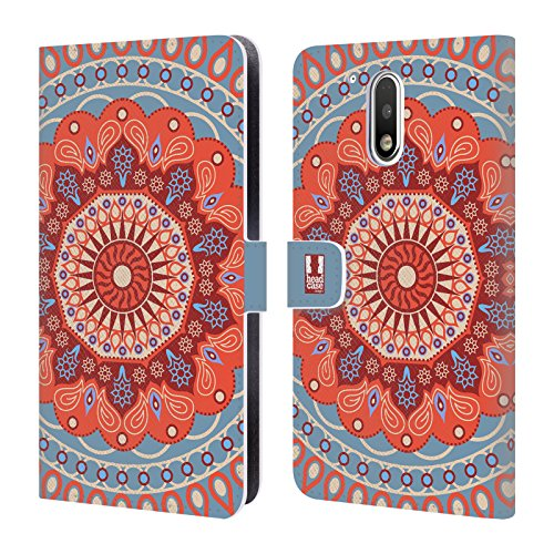 Head Case Designs Tangerine Circus Mandala Leather Book Wallet Case Cover For Motorola Moto G4 / G4 Plus