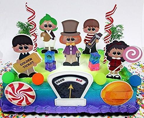 Willy Wonka Juego De Decoración Para Tarta De Cumpleaños Con