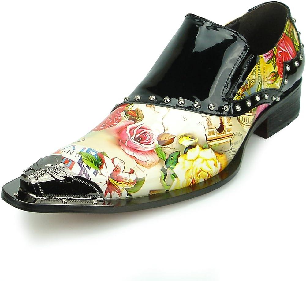 Details about  /FI-7151 Black Floral Designs Loafer Fiesso by Aurelio Garcia