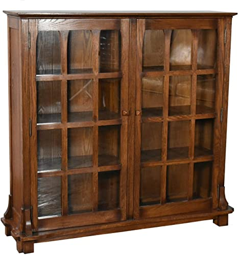 Deal of the week: Crafters and Weavers Mission Solid Oak Double Door Bookcase