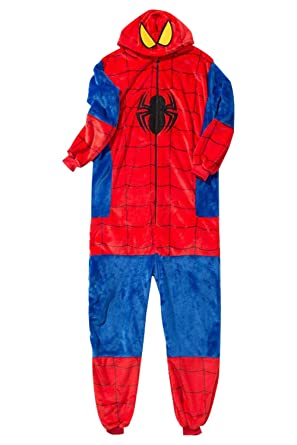 1dd9a8090599 Amazon.com  Newdong Unisex Kids Adult Super-Spider Onesie Flannel Pajamas  Fleece Cosplay Costume Sleepwear  Clothing