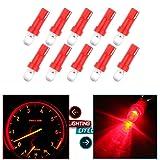 cciyu 10 Pack Red T5 37 74 Wedge SMD Led Bulbs
