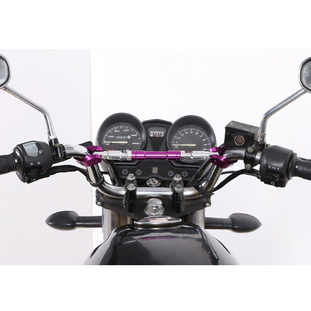 Dolity 28cm Barra Trasversale Manubrio 22mm Lega Alluminio Accessorio Moto Arancia