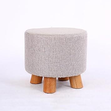 GroBartig Solid Wood Bench Kleine Hocker Mode Moderne Kleine Bank Couchtisch Hocker  Hause Kreative Hocker Wohnzimmer Erwachsenen