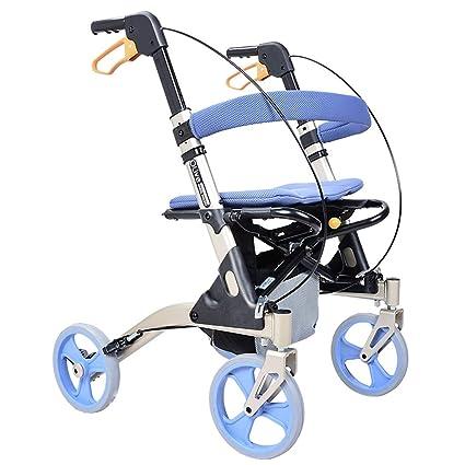 Carritos de la compra Andador Carro De La Compra Carro Portátil Plegable De Aluminio Carro De