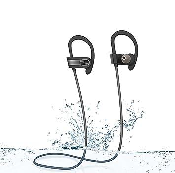 PROMIC Auriculares Bluetooth 4.1 cascos inalámbrico Deportivos in-ear estéreo,con CVC 6.0 Tecnico