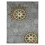 "Ottomanson Studio Collection Medallion Design Area Rug, 8'2″ X 9'10"", Gray Review"