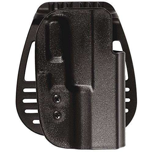 Uncle Mike's Kydex Off-Duty and Concealment OT Hip Holster with PBA (Black, Size 21, Right Hand) (Paddle Concealment Holster Kydex)