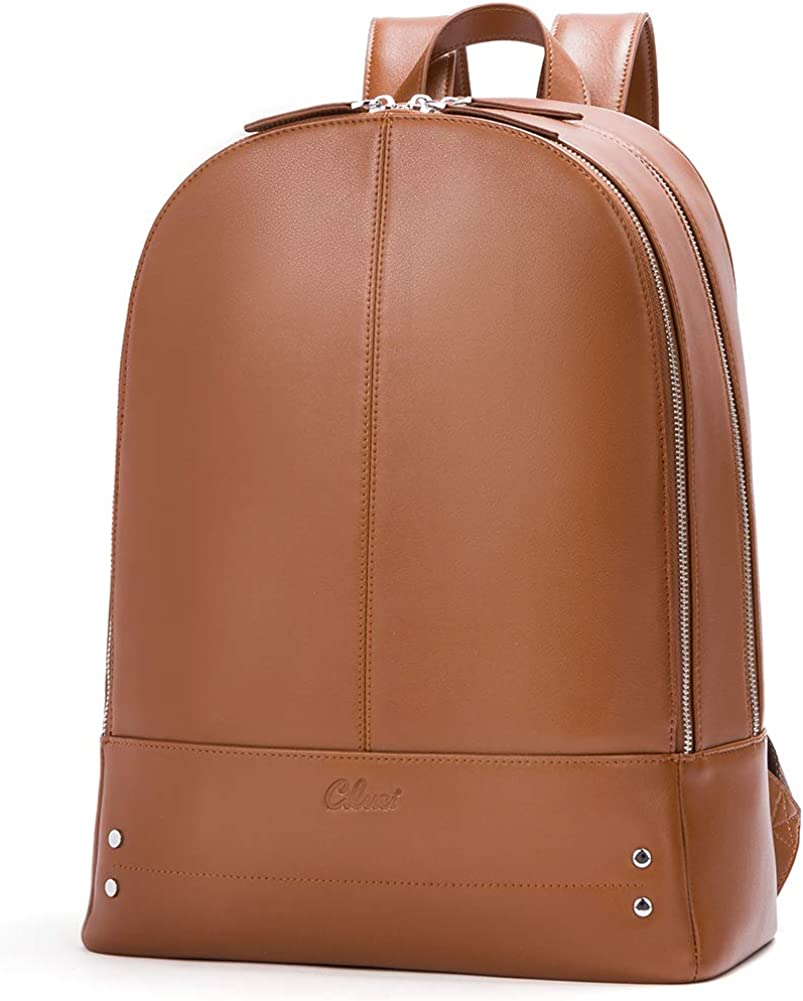 CLUCI Women Backpack Purse Genuine Leather Travel Business Fit 14 Inch Laptop Large Fashion Ladies Bag