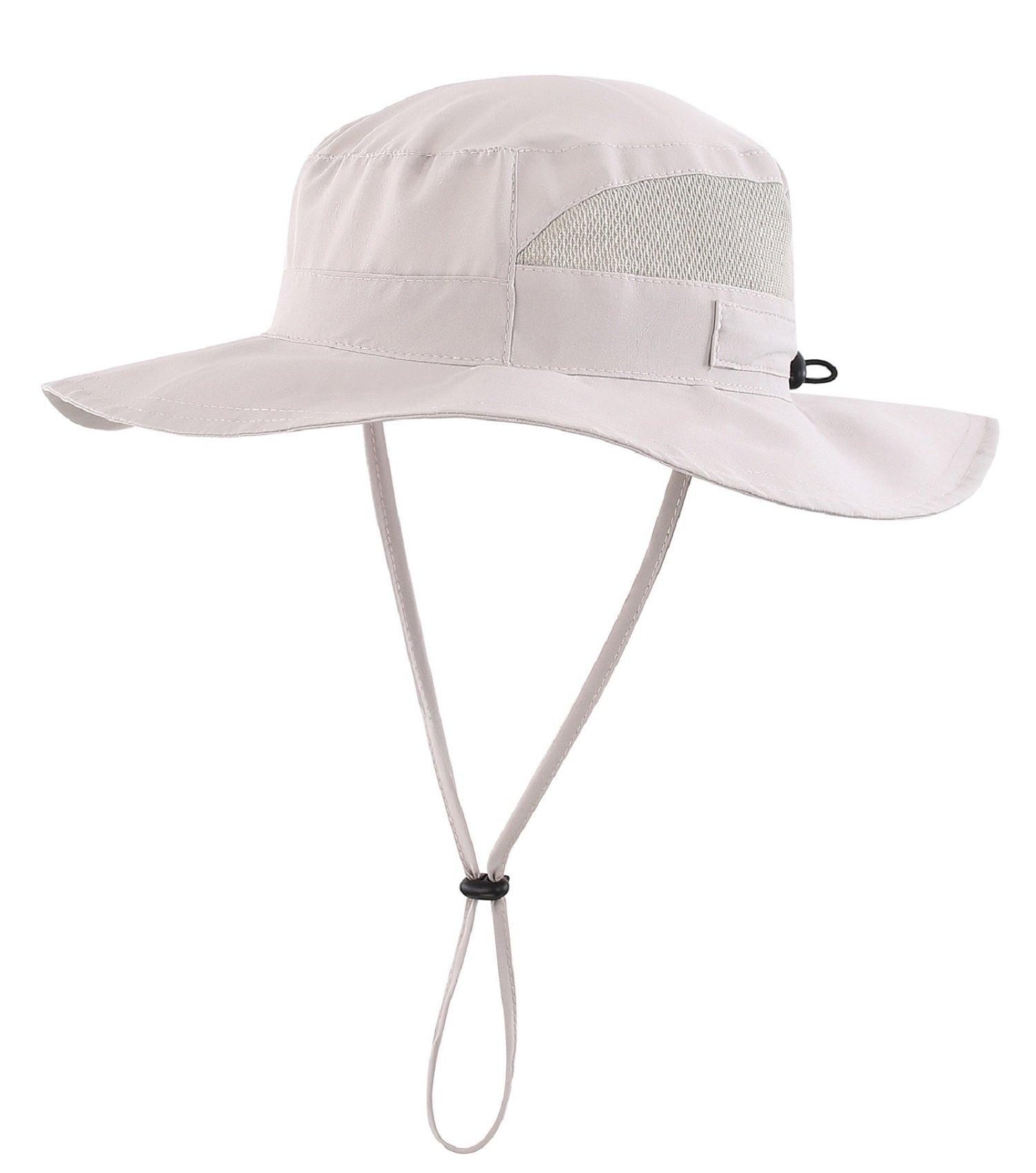 Connectyle Men's Outdoor Mesh Boonie Sun Hat Summer Wide Brim UV Protection Fishing Hat Safari Cap